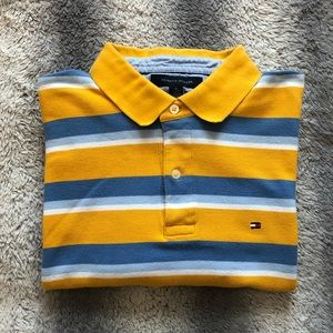 Tommy Hilfiger Polo Mens XL Yellow/Blue